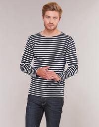 Vêtements Homme T-shirts manches longues Armor Lux VERMO Marine / Blanc