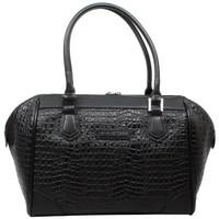 Sacs Femme Cabas / Sacs shopping Jacques Esterel Sac  JE CC5002 effet croco mat demi rond Noir