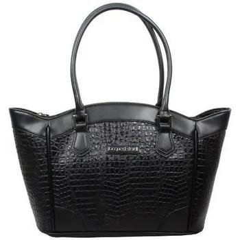Sacs Femme Cabas / Sacs shopping Jacques Esterel Sac  JE CC5001 effet croco mat trapèze Noir