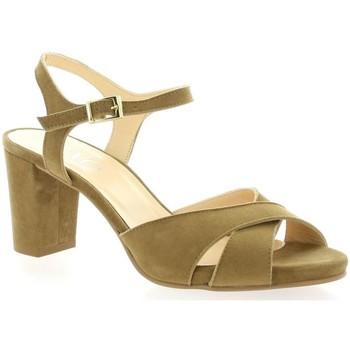 Chaussures Femme Sandales et Nu-pieds Brenda Zaro Nu pieds cuir velours Taupe