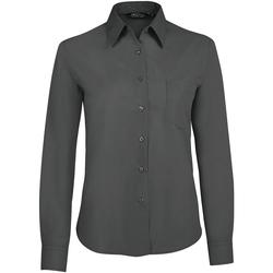 Vêtements Femme Chemises / Chemisiers Sols EXECUTIVE POPELIN WORK Gris
