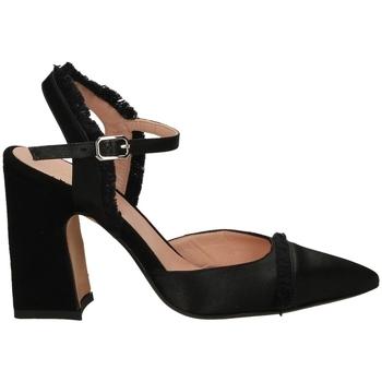 Chaussures Femme Escarpins Malù RASO E CAMOSCIO nero-nero