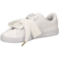 Chaussures Femme Baskets basses Puma BASKET HEART PATENT white-bianco