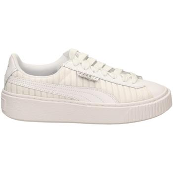 Chaussures Femme Baskets basses Puma BASKET PLATFORM EP W wht-bianco