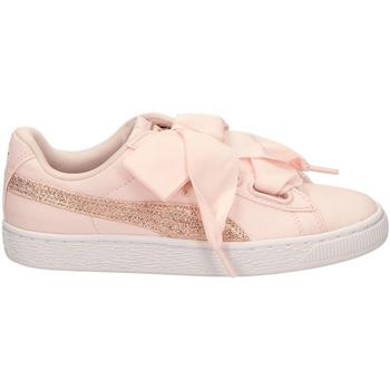 Chaussures Femme Baskets basses Puma BASKET HEART CANVAS pergo-rosa