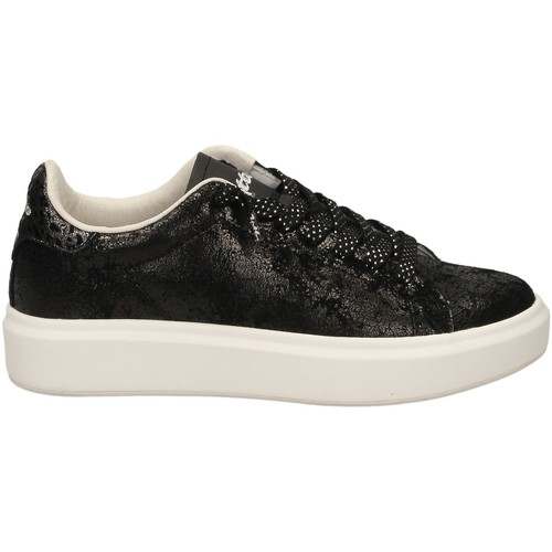 W Basses Baskets Crack Lotto Chaussures Impressions nero Femme Black OkPZuXi