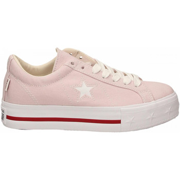 Chaussures Femme Baskets basses Converse ONE STAR PLATFORM OX barely-rose-white