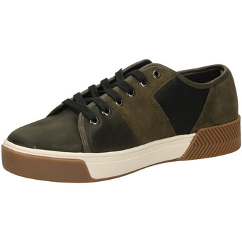 Chaussures Homme Baskets basses Tommy Hilfiger LEATHER MIX LONG olive-oliva