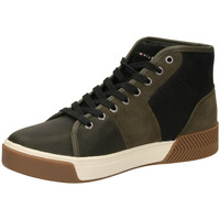 Chaussures Homme Baskets montantes Tommy Hilfiger LEATHER MIX HIGH TOP olive-oliva