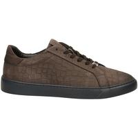 Chaussures Homme Baskets basses Café Noir GINNICA NABUK STAMPA marro-marrone