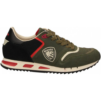 Chaussures Homme Baskets basses Blauer MEMPHIS01 - MAN SUEDE/MESH RUNNING mil-military-green