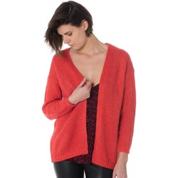 Vêtements Femme Gilets / Cardigans La Petite Etoile SUZIE ROUGE VERMILLON Rouge