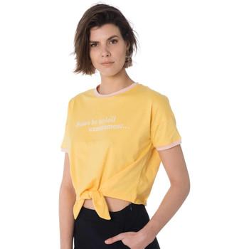Vêtements Femme T-shirts manches courtes La Petite Etoile JUNON JAUNE Jaune