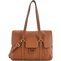 Sacs Femme Sacs porté épaule Etrier Sac Shopping Tradition cuir TRADITION 709-00EHER27 CAMEL