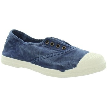 Chaussures Femme Tennis Natural World Baskets  ref_natural45809 628 Marine Bleu