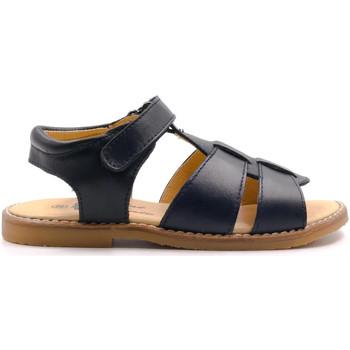 Chaussures Garçon Sandales et Nu-pieds Boni & Sidonie Sandales en cuir à scratch - MARIN Bleu Marine