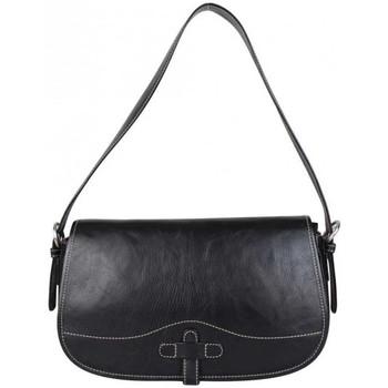 Sacs Femme Sacs porté épaule Duolynx Sac épaule à rabat en cuir  Noir Noir