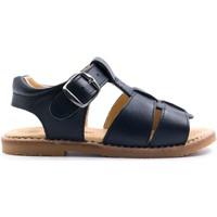 Chaussures Enfant Sandales et Nu-pieds Boni & Sidonie Sandales en cuir à boucles - ACHILLE II Bleu Marine
