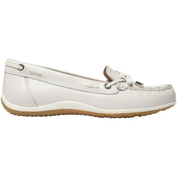 Chaussures Femme Mocassins Geox Mocassin D VEGA MOC B - SMO.LE+SYNT.LE Off White