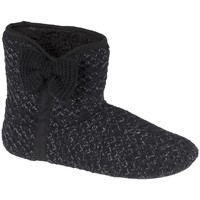 Chaussures Femme Chaussons Isotoner Chaussons botillons  ref_iso44803 Noir noir