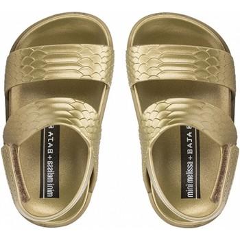 Chaussures Fille Tongs Mini Melissa Sandales bébé uni Cosmic Doré