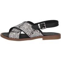 Chaussures Enfant Sandales et Nu-pieds Florens F778557A ARGENT/NERO Argent / Noir