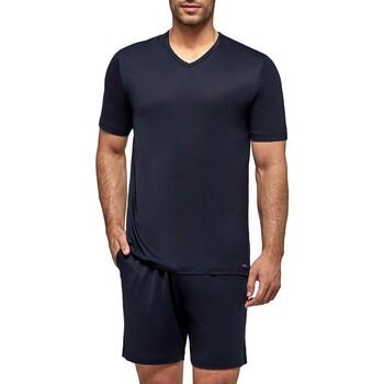 Vêtements Homme Pyjamas / Chemises de nuit Impetus Travel Pyjama court pour homme en lyocell Travel bleu nuit Bleu