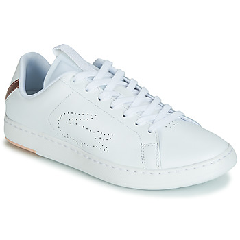 e78adf7426 Chaussures Femme Baskets basses Lacoste CARNABY EVO LIGHT-WT 119 3 Blanc /  Rose