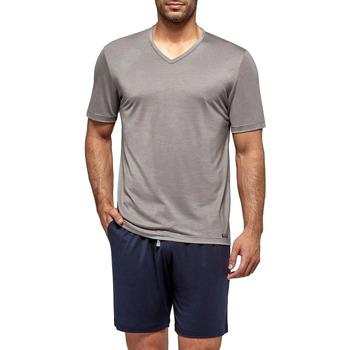 Vêtements Homme Pyjamas / Chemises de nuit Impetus Travel Pyjama court pour homme en lyocell Travel gris taupe Gris