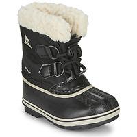 Chaussures Enfant Bottes de neige Sorel CHILDRENS YOOT PAC NYLON Noir