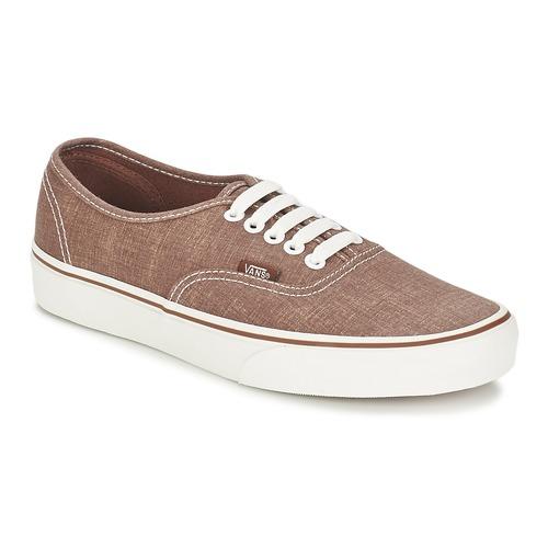 Chaussures Baskets basses Vans AUTHENTIC Marron