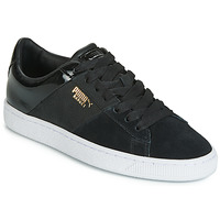 Chaussures Femme Baskets basses Puma BASKET REMIX Noir / Or