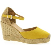 Chaussures Femme Espadrilles Pao Espadrille cuir velours  ocre Ocre