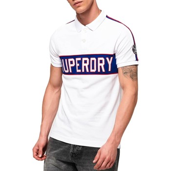 Vêtements Homme Polos manches courtes Superdry RETRO SPORTS APPLIQUE POLO C.01C blanc