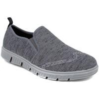 Chaussures Homme Slip ons Josef Seibel FALKO KNITTED-21 GRIS Mocasines