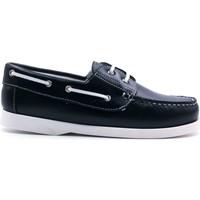 Chaussures Garçon Chaussures bateau Boni & Sidonie Chaussures bateau en cuir - BRIAC Bleu Marine