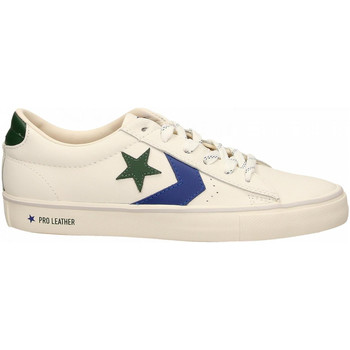 64d1b0266cd140 Chaussures Homme Baskets basses Converse PRO LEATHER VULC OX vintage-white -blue
