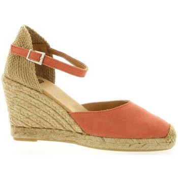Chaussures Femme Espadrilles Pao Espadrille cuir velours  cail Corail