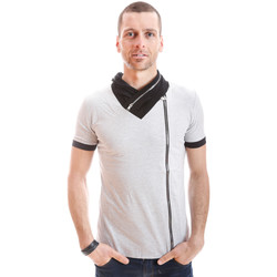 Vêtements Homme Polos manches courtes By Showroom Vip Tshirt Fashion  T9043 Gris Clair