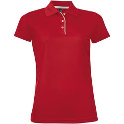 Vêtements Femme Polos manches courtes Sols PERFORMER SPORT WOMEN Rojo