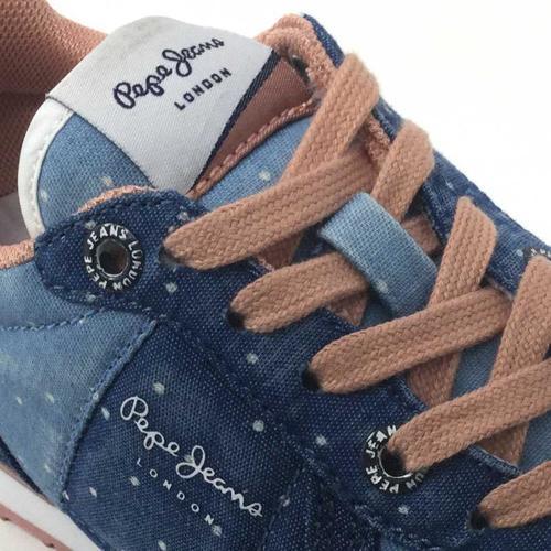 SYDNEY TOPOS DENIM  Pepe jeans  baskets basses    bleu