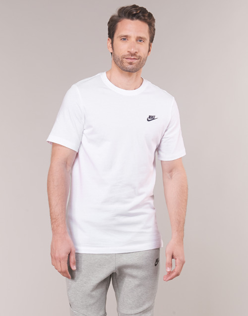 M NSW CLUB TEE  Nike  t-shirts manches courtes  homme  blanc