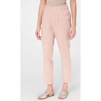 Vêtements Femme Chinos / Carrots Best Mountain Pantalon court à pinces Rose Poudre
