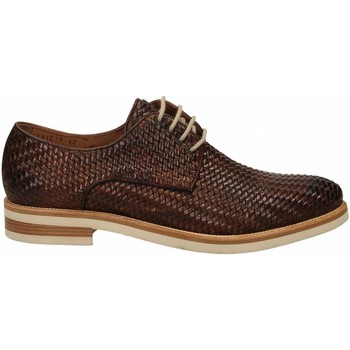 Chaussures Homme Derbies Brecos VITELLO INTRECCIATO brandy