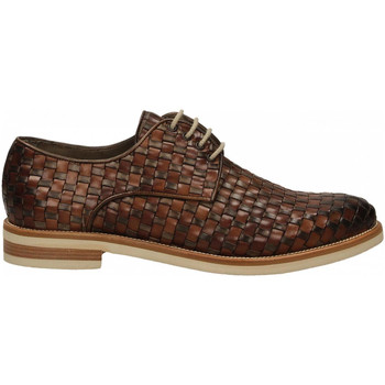 Chaussures Homme Derbies Brecos VITELLO taupe-brandy