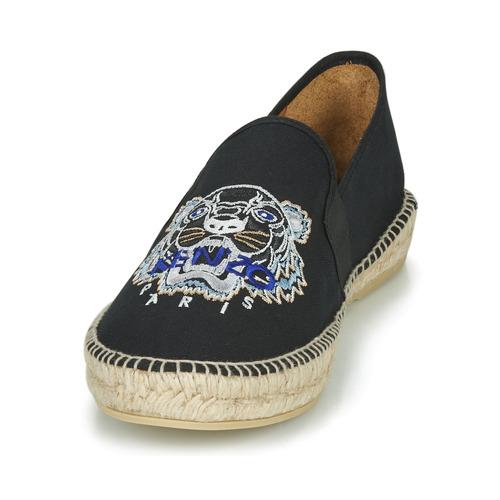 Chaussures Espadrilles Kenzo Head Tiger Elastique Espadrille Homme Noir xedrCoBW