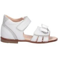 Chaussures Fille Sandales et Nu-pieds Romagnoli 3069-126 BIANCO Blanc / Argent