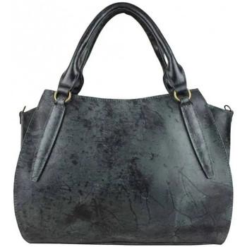 Sacs Femme Sacs porté main Bruno Rossi Sac à main femme cuir vintage vieilli  S 32 Noir