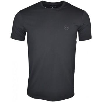 Vêtements Homme T-shirts manches courtes Armani T-shirt col rond  Exchange noir pour homme Noir