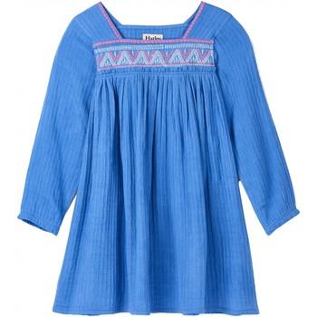 Vêtements Fille Robes courtes Hatley Robe en coton brodée Bleu